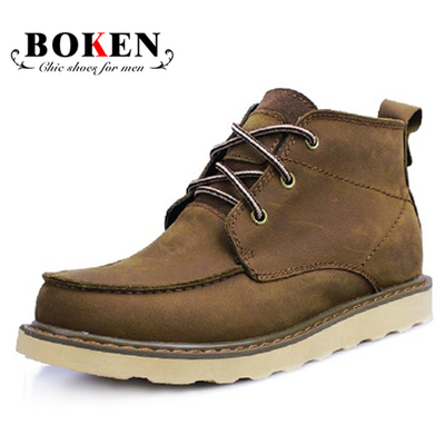 Boken tide male high-top boots men rivet tooling boots boots boots boots male cattle 998