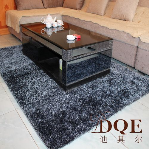 High-grade encryption diqier special offer bedroom living room coffee table carpets carpet cleaning-free Korea silk carpets can be customized