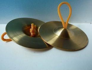 Children Orff percussion instruments according to Wang copper cymbals copper rub Sassafras thick copper hairpin 9cm