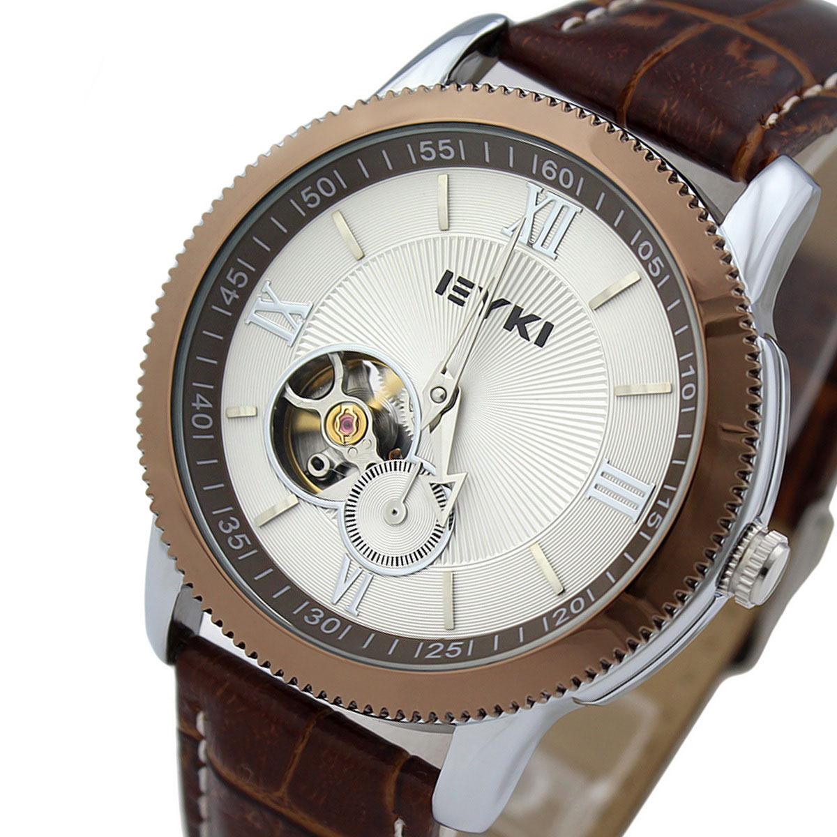 Часы Айки eyki унисекс оригинальные автоматические механические часы бизнес мода часы полые прилив таблицы нержавеющей стали мужские часы