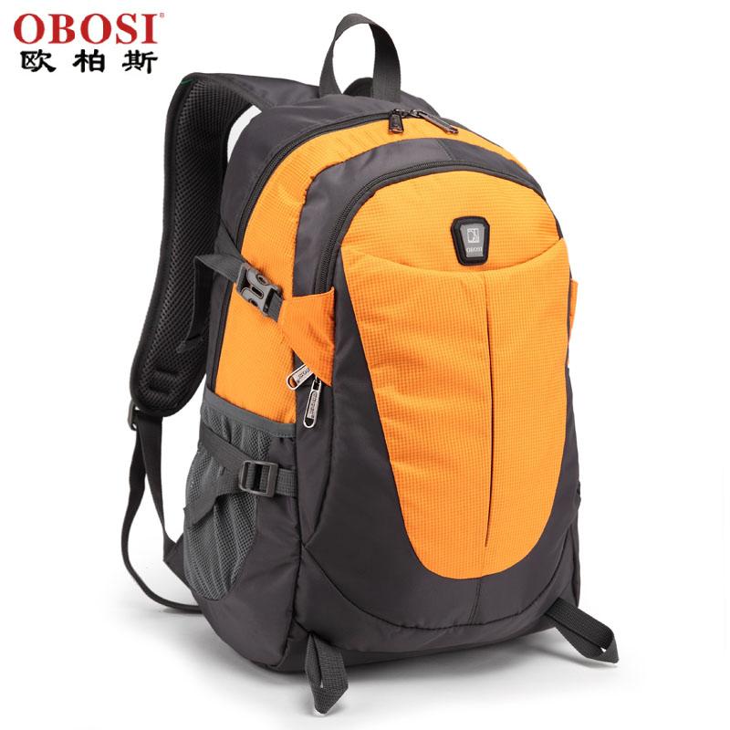 欧柏斯双肩尼龙背包男女韩版潮牛津布学生书包旅行背包