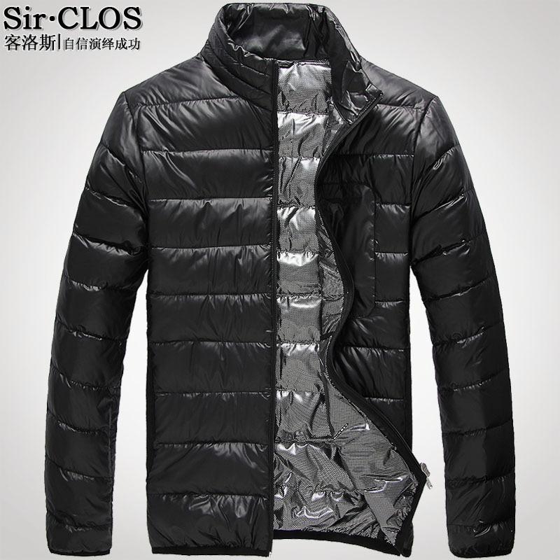 Пуховик мужской Sir clos 0061 Короткая (до пояса и выше) Без воротника со стойкой Другое Однотонный цвет