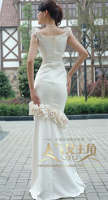 Свадебное платье Popular actress 1011 2012 Плотная ткань Русалочий хвост