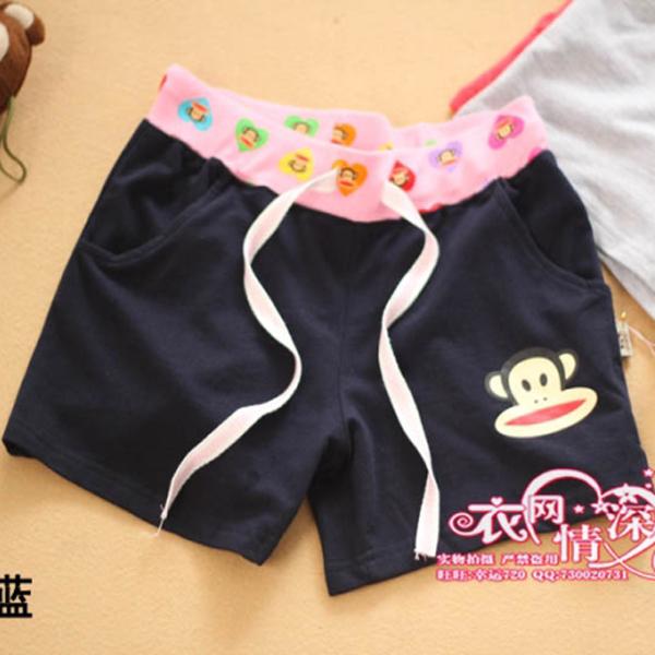 Женские брюки 2012 новый стиль шорты персик цветные хлопок шорты талии обезьяна шорты шорты плюс размер женщин шорты шорты Шорты, мини-шорты Прямые