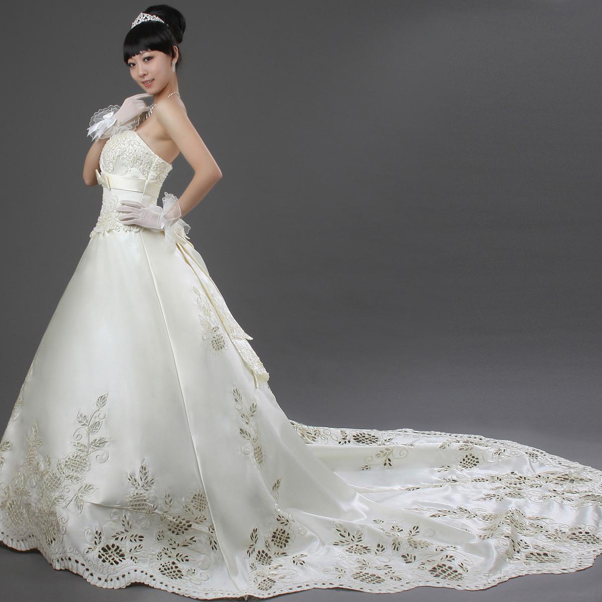 Свадебное платье Love me, the bride hs117 Атлас, сатин Небольшой шлейф