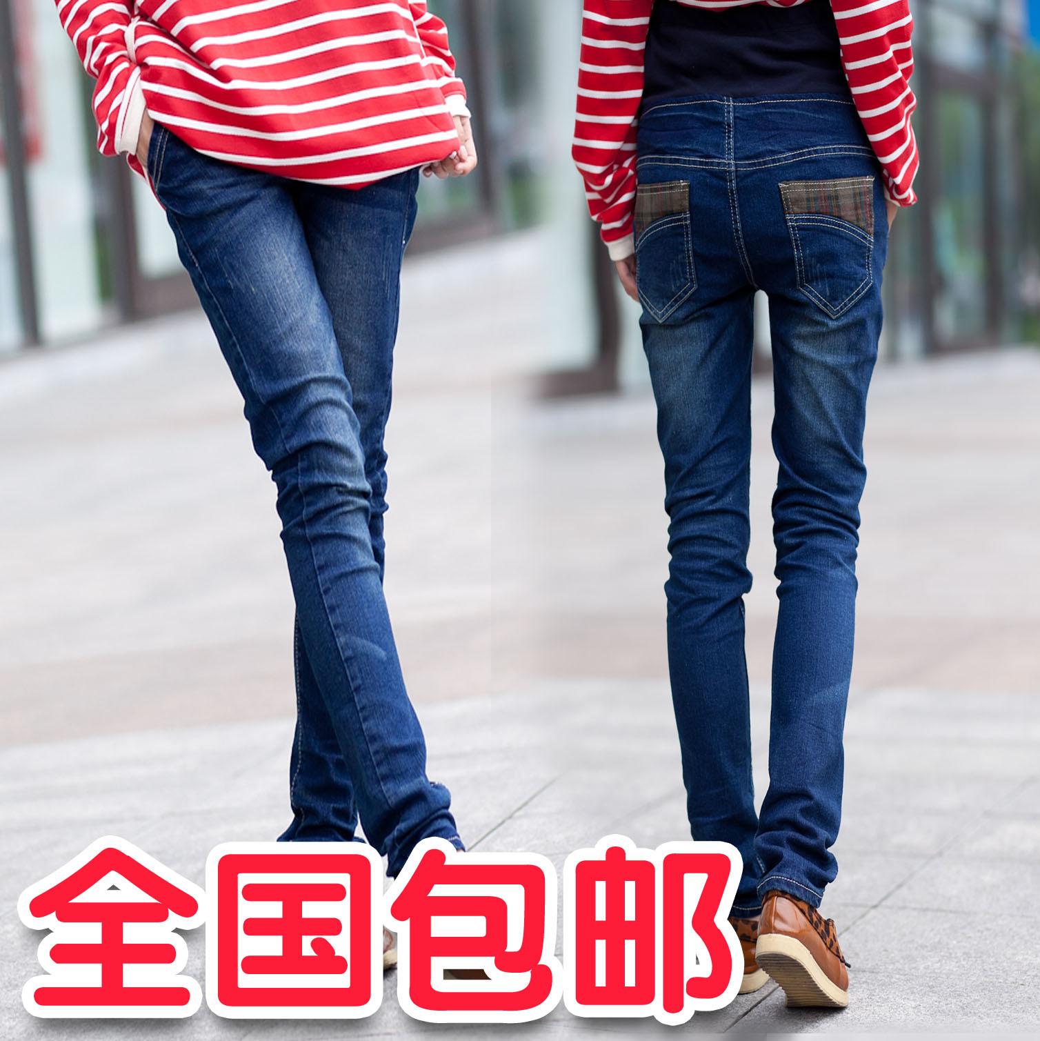 包邮 时尚韩版秋装孕妇装牛仔裤铅笔裤打底裤托腹裤孕妇裤子长裤j