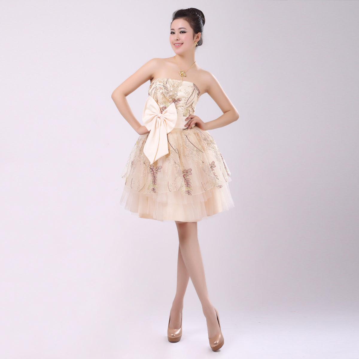 爱伦斯婚纱礼服 全蕾丝蓬蓬裙 伴娘裙 伴娘装 伴娘小礼服 包邮