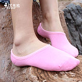 Spring and Summer Women Invisible Socks Boat Solid Color Shallow Mouth Candy Cotton to Help Low