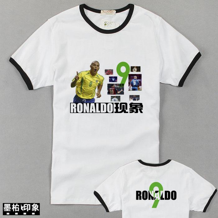 Спортивная футболка Ink Bo impression 040109 RONALDO Стандартный Воротник-стойка 100 хлопок Рисунок