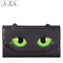 AZA阿札2013春夏新款牛皮女士钱包 女长款猫眼丝印原创钱夹7513
