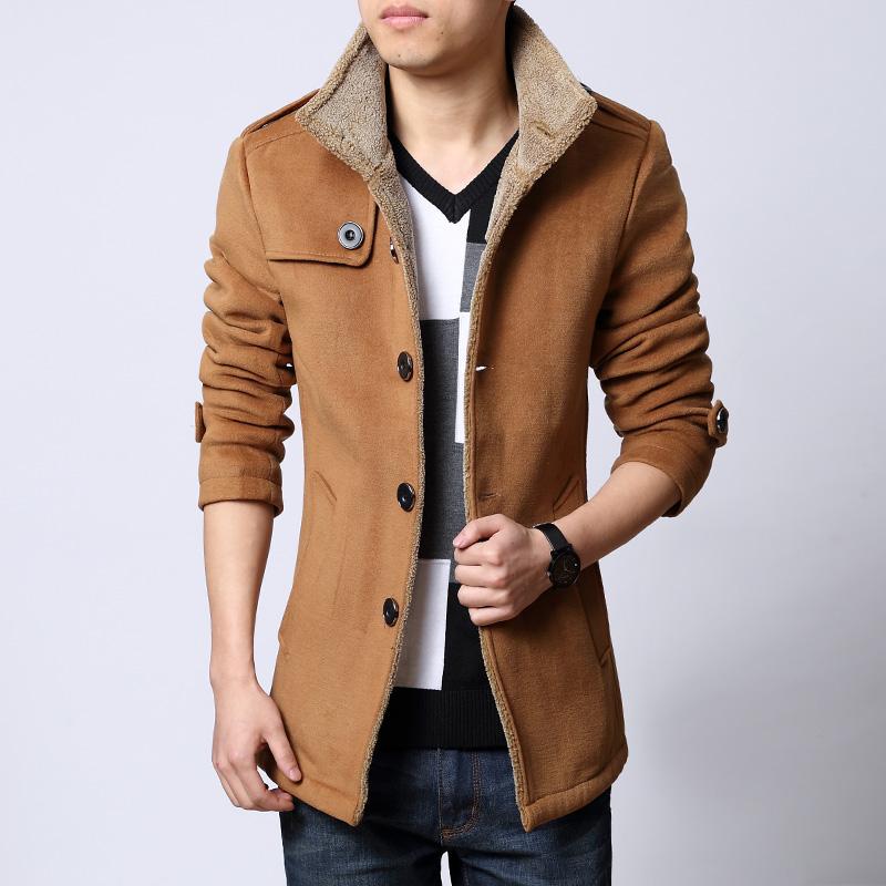 森马男士呢子大衣男羊毛呢大衣男装中长款韩版修身男士呢子外套图片