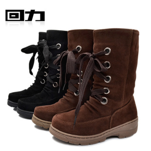 Shanghai of female money back snow boots warm cotton boots shoes XueDeXie outdoor warm warm shoes 1029