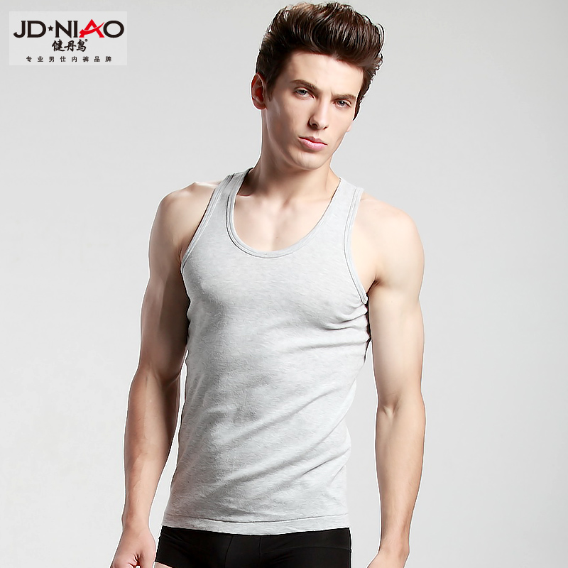 2014 summer slim absorbent cotton tight base movement vest male Korean
