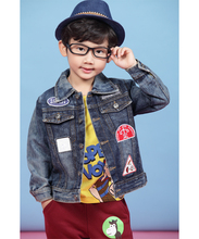 Authentic WTBKIDS utopia foreign trade children's clothes Recommend air jacket retro jean jacket detonation model