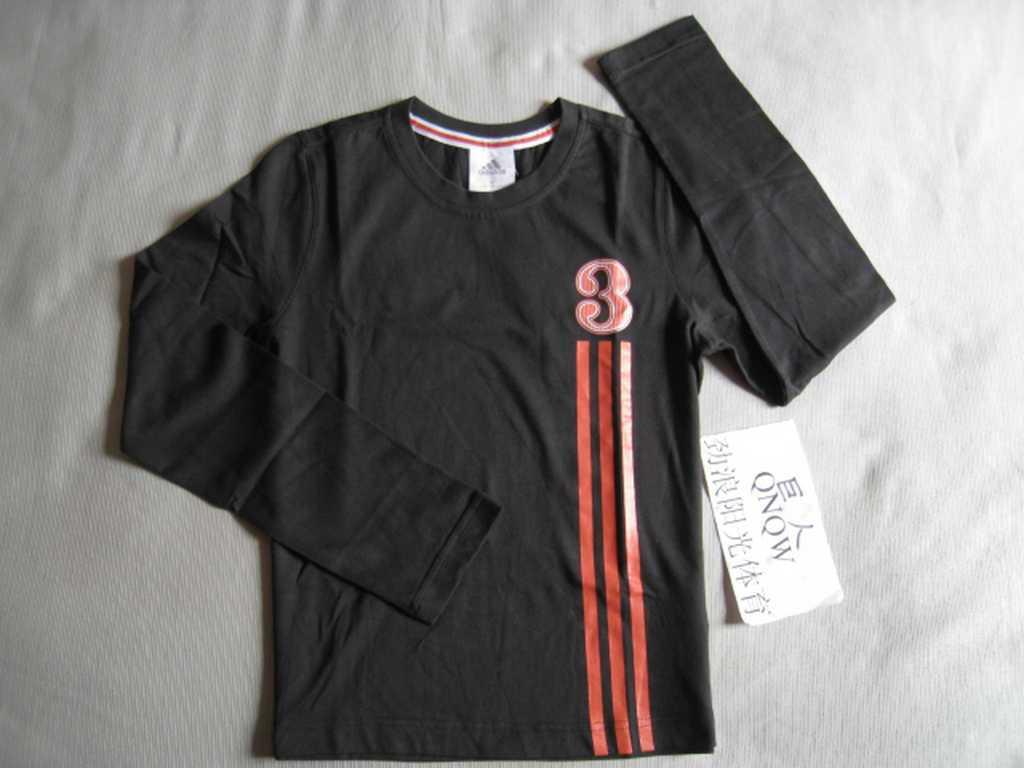 Спортивная футболка Ad e69098 Стандартный Воротник-стойка 100 хлопок Линейная, С логотипом бренда