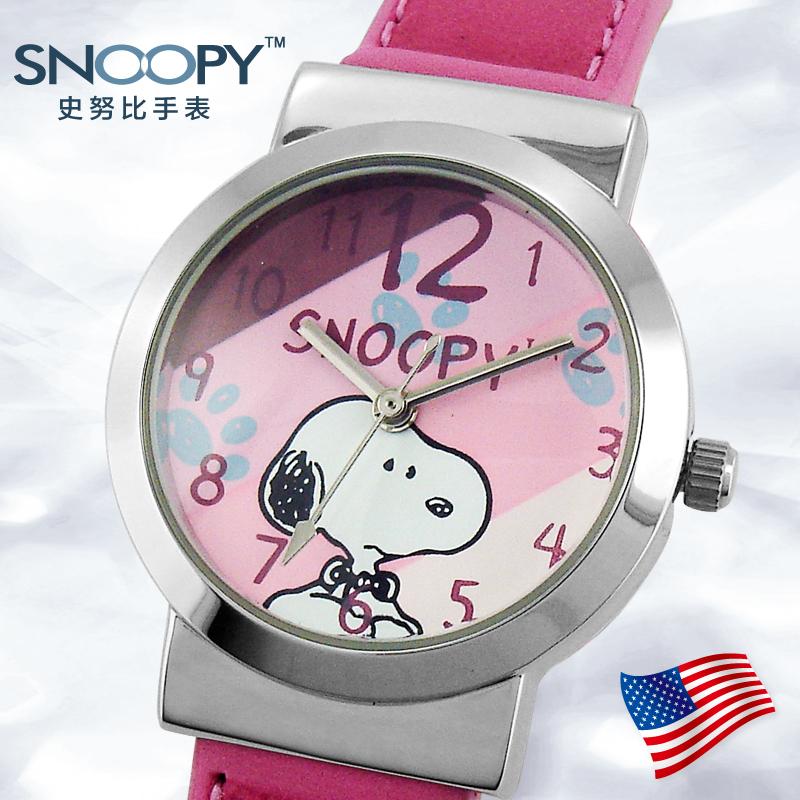 儿童学生史努比手表防水 新款可爱时尚彩色皮带 春季新款全国联保