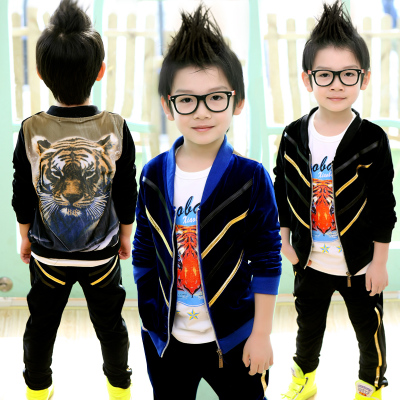Small children die big boy Autumn Spring 2014 Korean version of the new long-sleeved suit jacket tide movement 7044