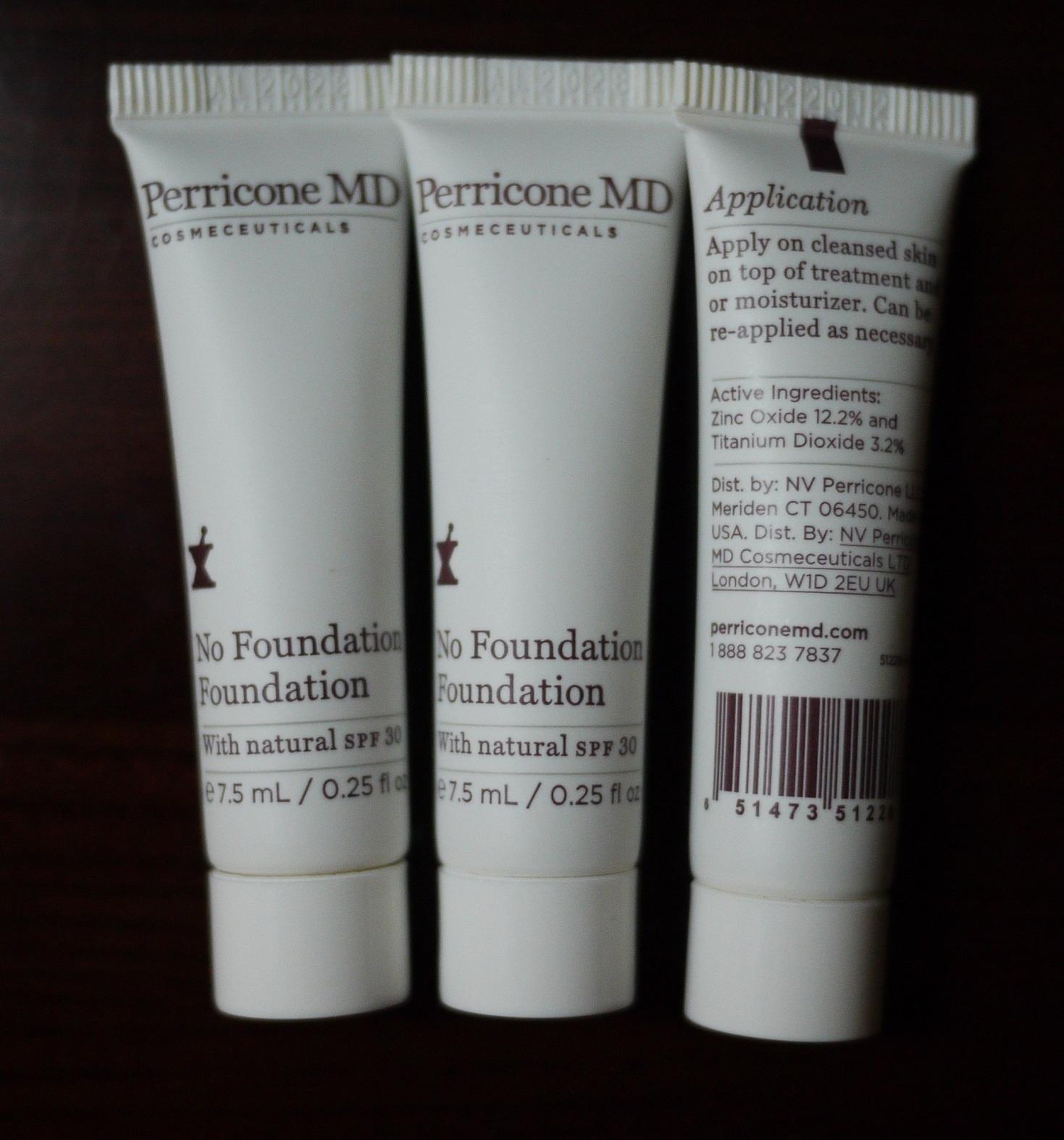Жидкость/сливки Perricone md  No Foundation SPF30 7.5ml