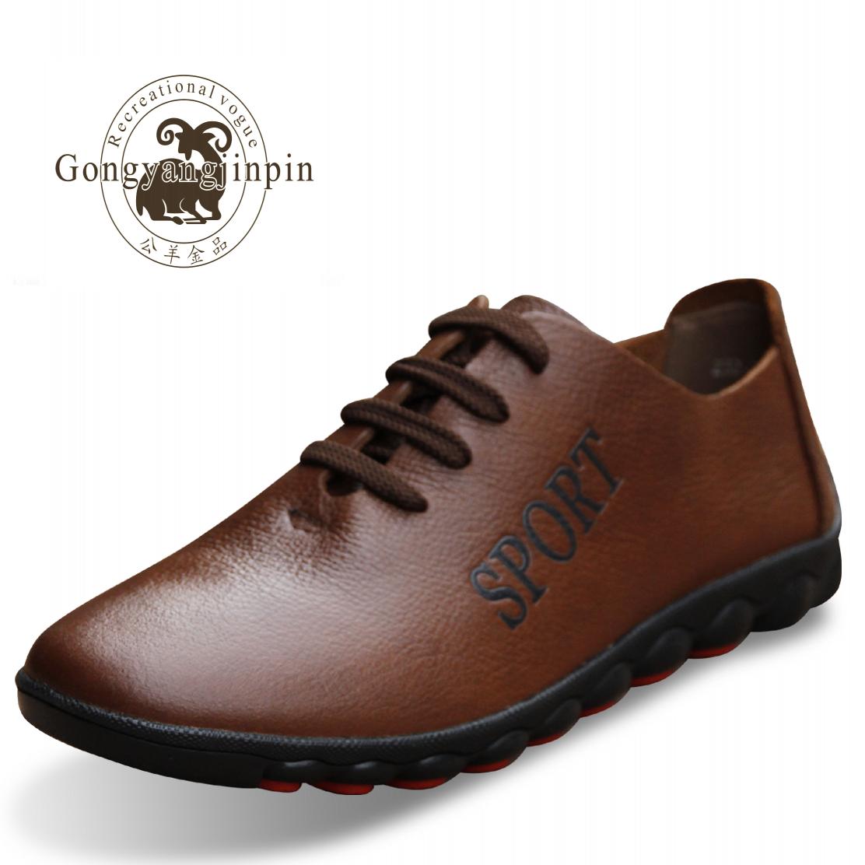 Демисезонные ботинки Rams Gold products 2186 Для отдыха Кожа Круглый носок Шнурок Весна и осень