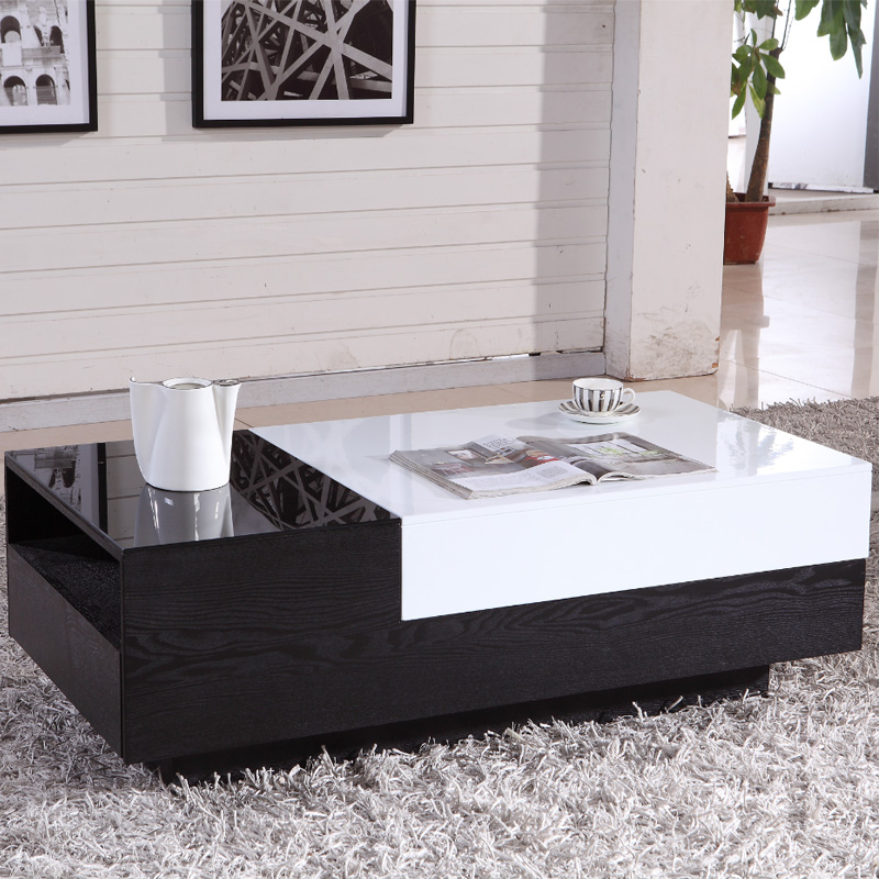 Tempered Glass Coffee Table With Drawers: Telescopic Table Drawer Special Package Mail Table Of