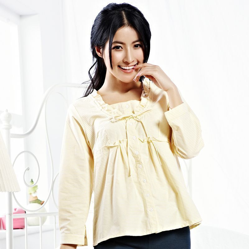 2012 new style spring song, real brand Pajama top thin ladies cute Angels clearance sale casual home wear