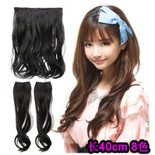 Large volume hair hyper-realistic Curly hair wigs and hair pills pills can straighten iron roll of wig