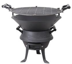 欧式复古生铁炉子 户外烧烤架烧烤炉 铸铁木炭炉 家用木炭取暖炉图片