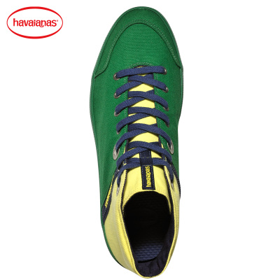 Havaianas promote genuine men and women couple models canvas shoes high-top shoes casual green yellow Havana code