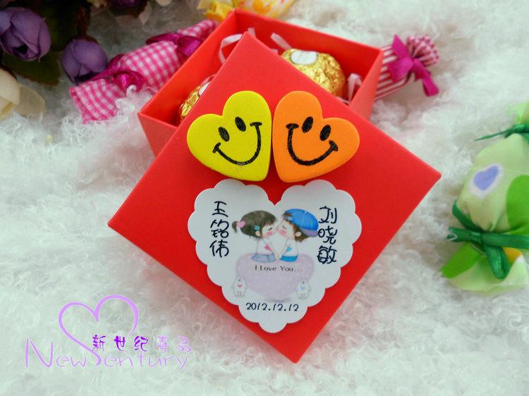 欧式喜糖盒个性创意婚庆用品/喜糖袋 结婚-心心相印-M-成品发货