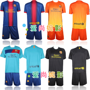 New home team Barcelona Football clothes suit adult football soccer clothing clothes children's football clothing