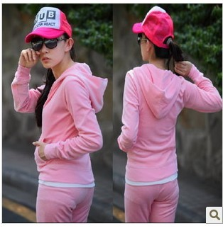 New velvet track suit female models autumn leisure suits Korean ...nn models