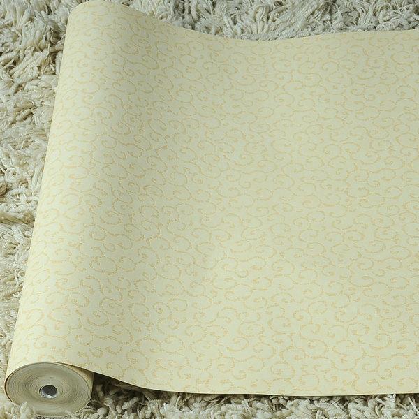 现代中式墙纸 壁纸黄色祥云 时尚简约壁纸 温馨卧室客厅书房图片