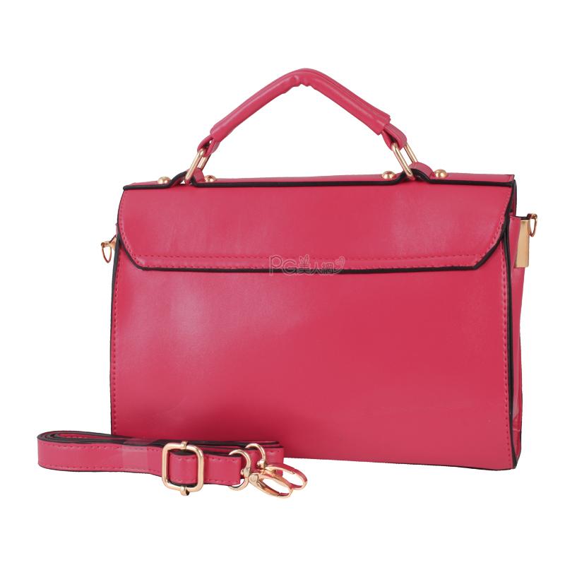 Сумка PG красоты Винтаж лук NET 2246 [ноутбук сумка] 4-корейских женщин пряжкой новый Девочки Женская сумка Однотонный цвет Пвх