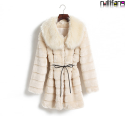 Korean style mink fur coat collar jacket