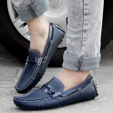 The new spring leisure men doug shoes fashion trend in han edition of England frosted is driving the boat shoes without holster