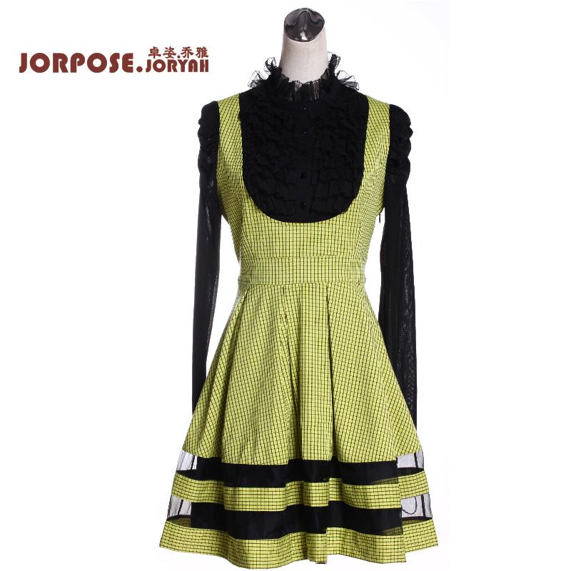 卓姿乔雅 高端女装原创设计时尚奢华气质秋季长袖连衣裙j2s2a1632