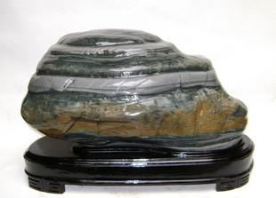 天然奇石 乌江石 观赏石 鹅卵石 造型石{步步高升} 原石 重57斤图片