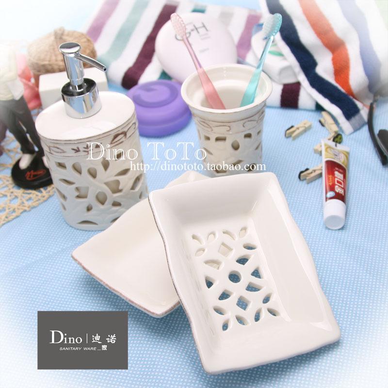 特价包邮生活浴室洗漱居家用品 陶瓷卫浴四件套 浴室用品套件装组
