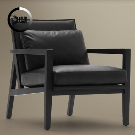 卡芬达 欧式白色休闲椅 田园碎花布艺休闲椅 珠光皮艺沙发躺椅 (4160图片