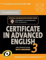 【预订】Cambridge Certificate in Advanced English 3 for