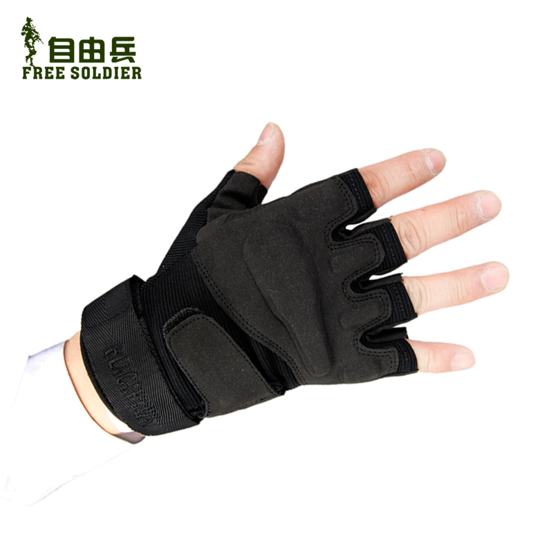 Free outdoor low profile tactical gloves Eagle gloves half finger Gloves black hell storm half gloves