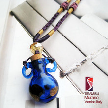 Tiramisu Venice Murano glass refined oil bottle necklace Italy ears deep and remote dream 1063