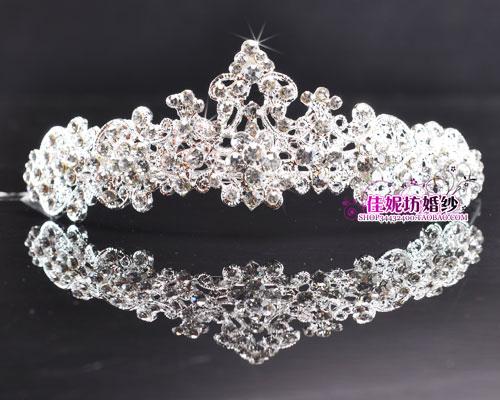 Свадебная диадема Сплав стиль для новобрачных Корона Свадебные аксессуары Свадебные аксессуары волос супер Flash не выцветает w-55