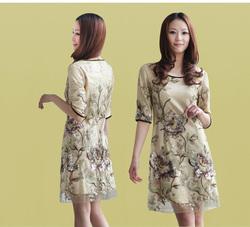 [年中大促] 新款特价加肥加大真丝连衣裙杭州桑蚕丝显瘦高档品牌大码中年女装