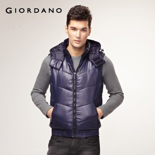 2012 new Giordano jacket men's detachable Cap warm cotton vest 01071646