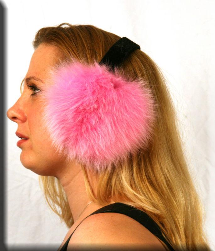 Меховые наушники Athena Athena классические ограниченное издание в Франции трава Фокс меха халявы уха наушники пятно