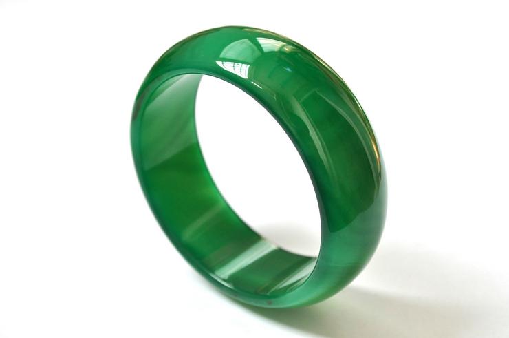 纯天然玉石正品5A级巴西绿玛瑙宽手镯加宽加厚大小全代做证书