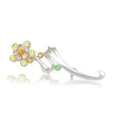 TITILA jewelry Korean jewelry Korean version of the simple bright diamond flower corsage brooch female silver pectoral 8984