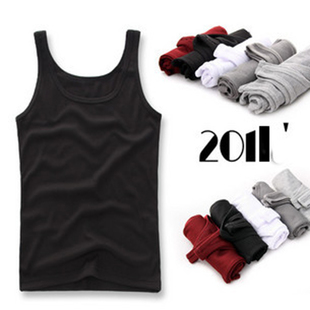 Trend of Korean men's tight sweat vest vest men's vest leisure male man men's stretch sleeveless summer load