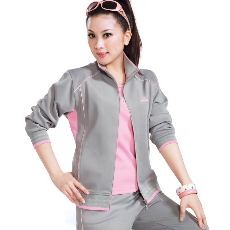 Спортивный костюм *** 1026 Женские Длинные рукава (рукава ≧ 58см) Отложной воротник Брюки ( длинные ) Для спорта и отдыха Логотип бренда